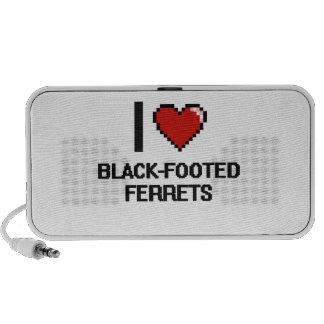 I love Black-Footed Ferrets Digital Design Mp3 Speakers