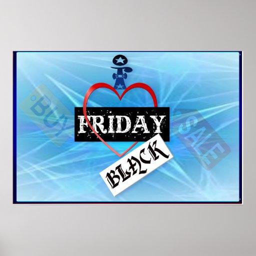 I Love Black Friday Poster