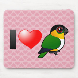 I Love Black-headed Parrots Mouse Pad