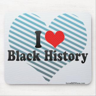 I Love Black History Mousepads