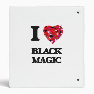 I Love Black Magic Vinyl Binders