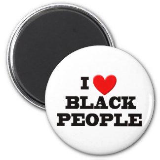 I Love Black People Refrigerator Magnets