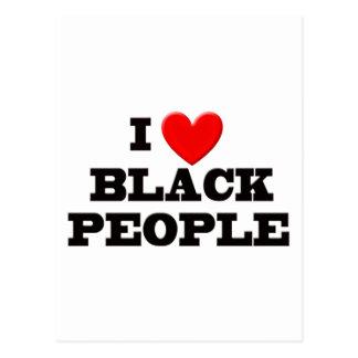 I Love Black People Postcard