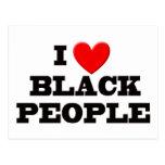 I Love Black People Postcards