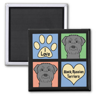 I Love Black Russian Terriers Fridge Magnet