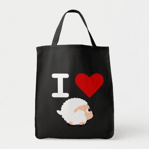 i love black sheep tote bag