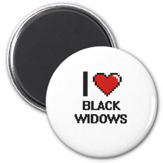 I love Black Widows Digital Design 2 Inch Round Magnet