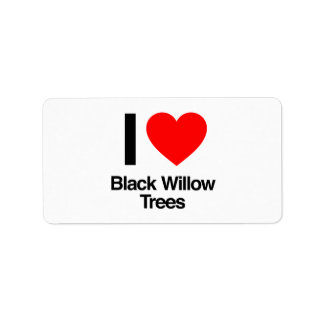 i love black willow trees personalized address label