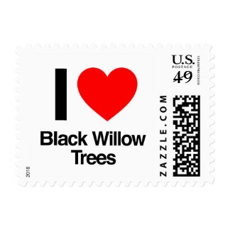 i love black willow trees postage stamp