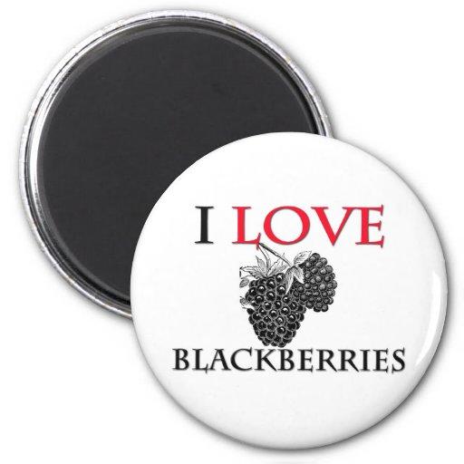 I Love Blackberries Fridge Magnets