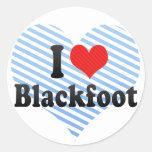 I Love Blackfoot Sticker
