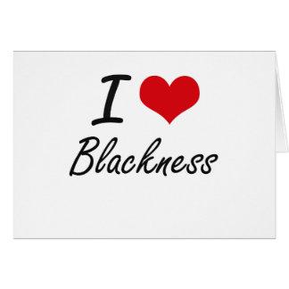 I Love Blackness Artistic Design Stationery Note Card