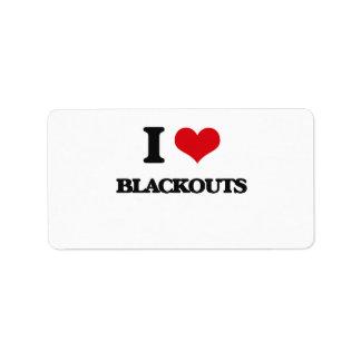 I Love Blackouts Address Label