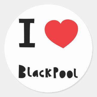 I love Blackpool Classic Round Sticker