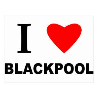 I Love Blackpool. Postcard