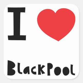 I love Blackpool Square Sticker