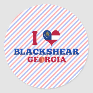 I Love Blackshear, Georgia Classic Round Sticker