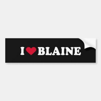 I LOVE BLAINE BUMPER STICKER
