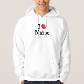 I love Blaine heart custom personalized Hoody