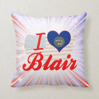 I Love Blair, Nebraska Throw Pillow