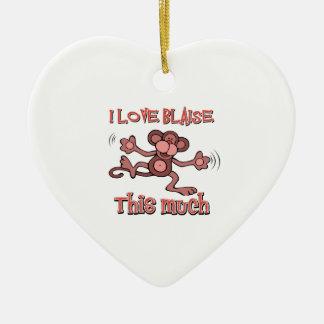I love Blaise Ceramic Ornament