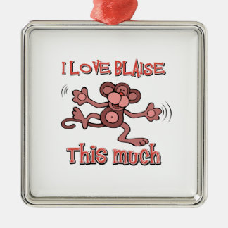 I love Blaise Metal Ornament