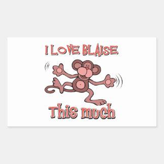 I love Blaise Rectangular Sticker