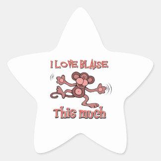 I love Blaise Star Sticker