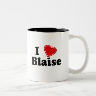 I Love Blaise Two-Tone Coffee Mug