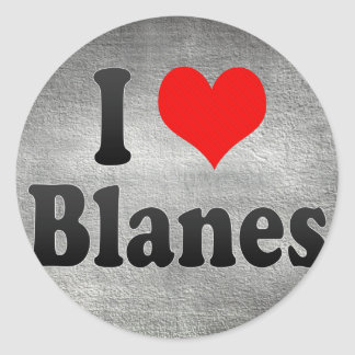 I Love Blanes, Spain Classic Round Sticker