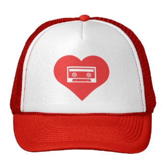 I Love Blank Cassettes Cool Icon Trucker Hat