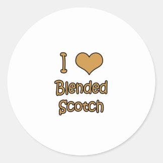 I Love Blended Scotch Classic Round Sticker