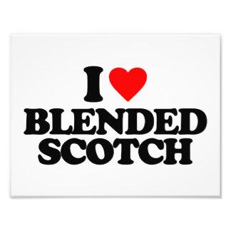 I LOVE BLENDED SCOTCH PHOTO ART