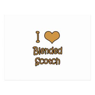 I Love Blended Scotch Postcard