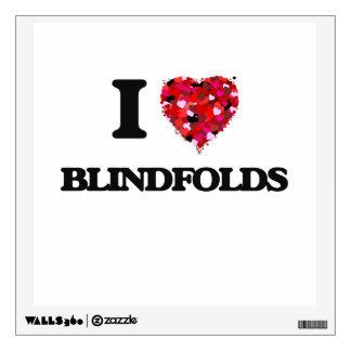I Love Blindfolds Wall Skins