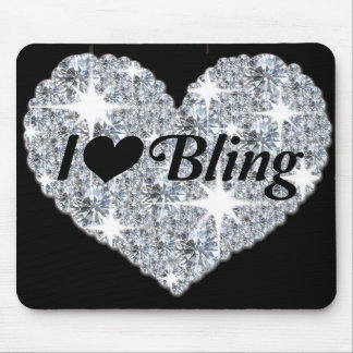 'I love bling' mouse mat