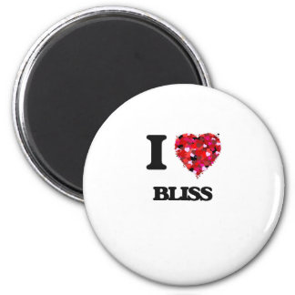 I Love Bliss 2 Inch Round Magnet