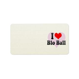 I love Blo Ball Address Label