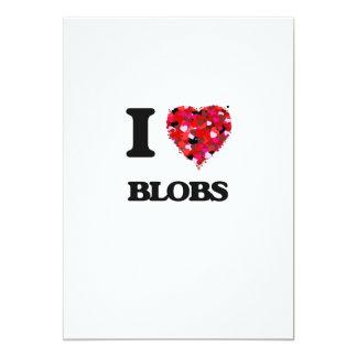 I Love Blobs 5x7 Paper Invitation Card