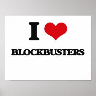 I Love Blockbusters Posters