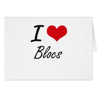 I Love Blocs Artistic Design Stationery Note Card