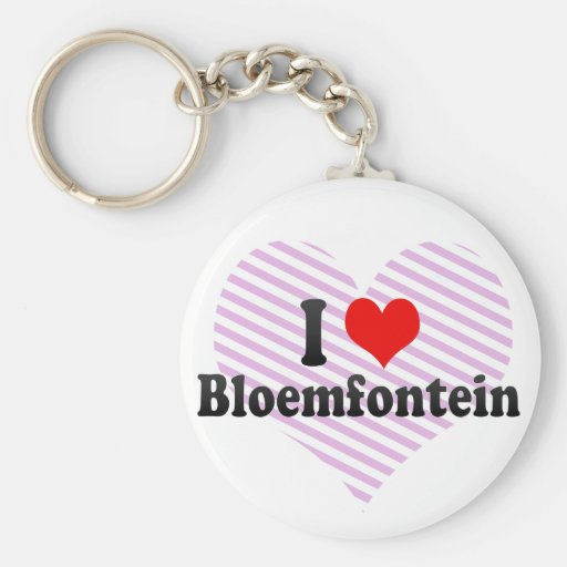 I Love Bloemfontein, South Africa Keychain