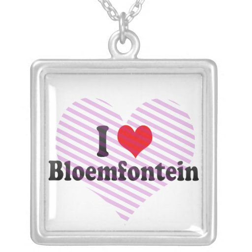 I Love Bloemfontein, South Africa Pendants