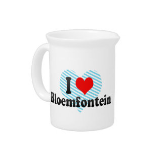 I Love Bloemfontein, South Africa Beverage Pitchers