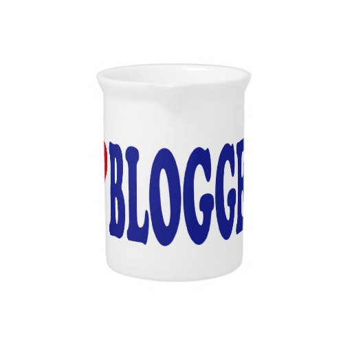 I Love Bloggers Beverage Pitcher
