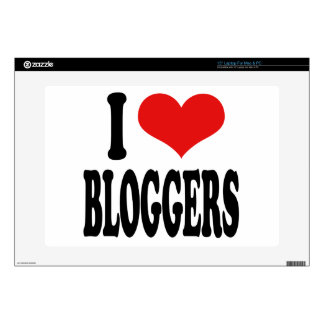 """I Love Bloggers Decals For 15"""" Laptops"""