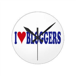 I Love Bloggers Round Clock