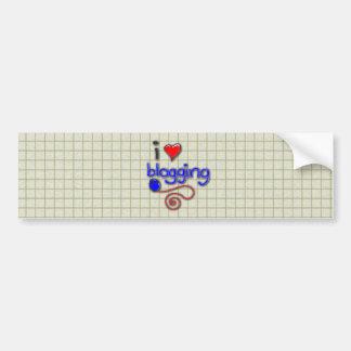 I Love Blogging Bumper Sticker