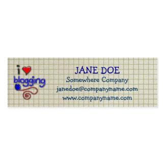 I Love Blogging Business Cards