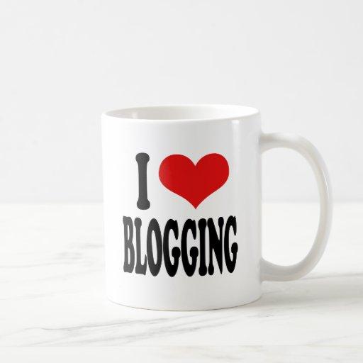 I Love Blogging Coffee Mugs